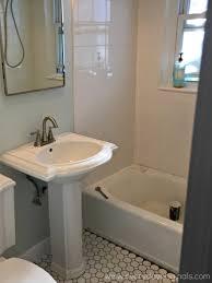 bathroom pedestal sink. Pedestal Sink Installed Bathroom
