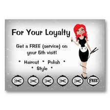 Hair Salon Loyalty Business Cards Red Head Zazzlecom In 2019