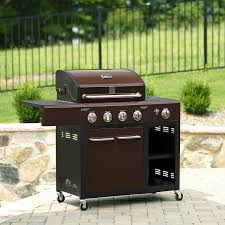 kenmore bbq. kenmore 4 burner mocha lp gas grill with storage bbq