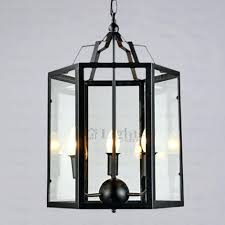 metal cage lamp unique light fixture glass shade 1