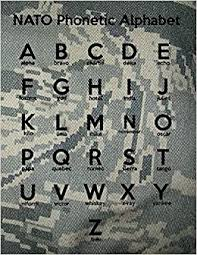 Army and navy had different alphabets, and throughout most of the war the british army, navy, and air force had their. Nato Phonetic Alphabet Penmanship Notebook For Pre School Kindergarten And Elementary School Future United States Air Force Airmen Symington Stuart 9798577300647 Amazon Com Books
