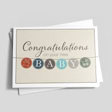 Baby Buttons Congrats Card Birth Congratulations By Brookhollow