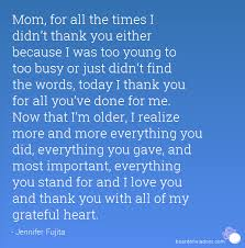 Thank You Mom Quotes Amazing Thank You Mom Best Quotes Wishes Messages For Mothers Day 48