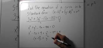how to write the equation of a circle in standard form math wonderhowto