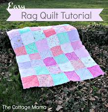 Some Bunny Loves You: Easy Rag Quilt Tutorial - The Cottage Mama & My mom (aka Grandma Jane) is here today sharing a tutorial for these  adorable rag quilts she made for my little ladies. Mom made these quilts  for the girls ... Adamdwight.com