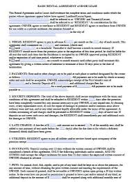 Month Rental Agreement Template