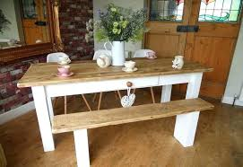 white farmhouse table and chairs dining with bench top painted design room furniture farmhou
