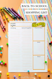 Printable Back-To-School Shopping List (& How I Save Big On My Bts ...