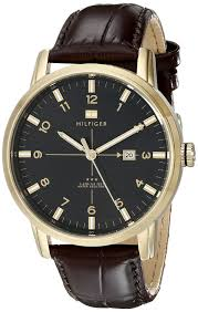 amazon com tommy hilfiger men s 1710329 gold tone watch amazon com tommy hilfiger men s 1710329 gold tone watch brown leather strap tommy hilfiger watches