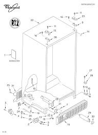 kitchenaid superba refrigerator parts diagram fresh whirlpool side by side refrigerator parts