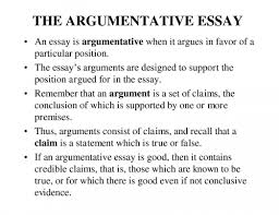 Argumentative Essay Conclusion The Example Intended For