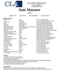 Resume Sam Massaro