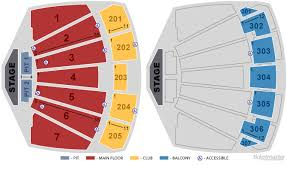 Unfolded Comerica Theater Seating Map 2019