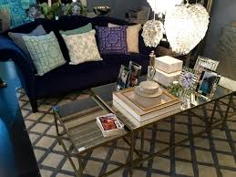cafe lighting and living. Another Geometric Rug At The Cafe Lighting Exhibit. Here Navy Sofa Works Really Well With Grey Rug. And Living S