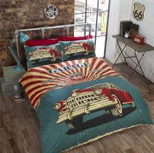 33 innovation retro style bedding vintage duvet cover bed set pillow case usa car garage item specifics uk baby
