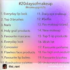 20daysofmakeup challenge by makeups76 on insram