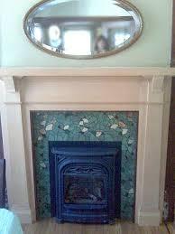 fireplace surround mosaic