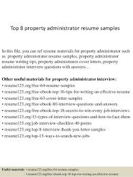 Property Administrator Sample Resume top10000propertyadministratorresumesamples1006310000jpgcb=100421000010007304 2