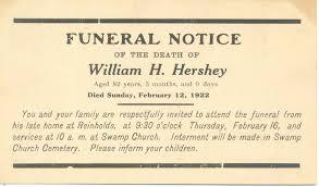 Sample Death Notice A Land Of Deepest Shade Memorabilia Part 4