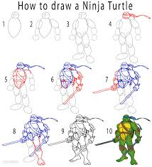 Small Picture How to Draw a Ninja Turtle Step by Step Pictures Cool2bKids