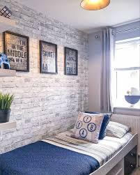 brick wall bedroom