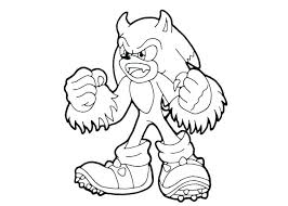 Sonic Coloring Pages Free Printable At Getdrawingscom Free For
