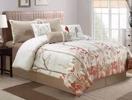 Bedding with Bird Design: 7-Pce Bird Themed/Motif Comforter & Accent Pillow  Set