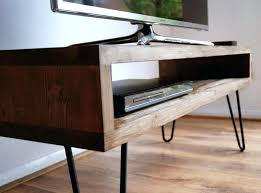 tv stand diy vintage retro box stand w metal hairpin legs solid wood rustic unit table