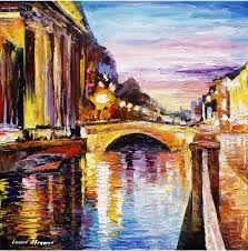 oil paintings painting venice bridge palette knife oil painting on canvas by leonid afremov