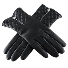 Black.co.uk Black Leather Quilted Gloves With Cashmere Lining in ... & Gallery. Women's Leather Gloves Adamdwight.com