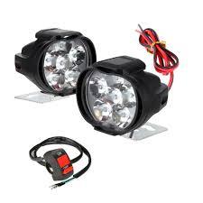 Mirror Emergency Lights 2pcs Universal Led Motorcycle Headlight Mirror Mount Driving