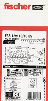 Test & Avis : Fischer FBS vis à béton 12 x 110/10, 517898 US