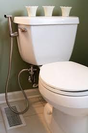 Bathroom : White Modern Elevated Toilet Seat Metal Long Hose ...