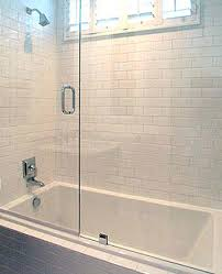 bathtub sliding shower doors for third floor bath shower clean crisp white bathroom with white beveled