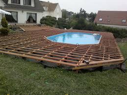 Nivrem Com Terrasse Bois Piscine Sur Plot Beton Diverses Id Es