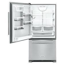 kitchenaid bottom freezer refrigerator stainless steel appliances cu ft bottom freezer refrigerator kitchenaid bottom freezer refrigerator