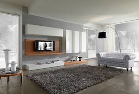 Living Room. Pretty Grey Living Room Interior Design And Chic Area Rug With  Pretty Sofa