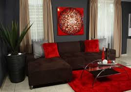 top red brown and black living room