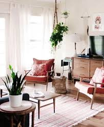 Vintage Style Minimalist Living Room Space with Retro Mid-Century ...