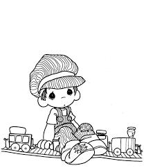 Small Picture Choo Choo Precious Moments coloring pages Precious Moments