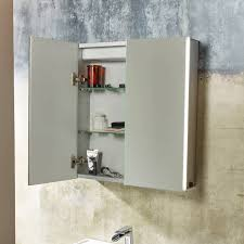 Corner Bathroom Mirror Storage Cabinet High Gloss White Tags