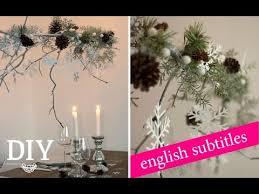 Weihnachtsdeko Basteln Weihnachtlichen Zweig Dekorieren Tutorial Deko Kitchen