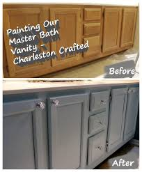painting bathroom vanity before and after. painting the bathroom vanity - charleston crafted before and after