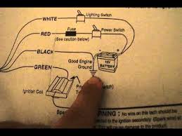 autometer jr 6650 briggs engine tachometer wiring instructions how to install tachometer to distributor at Wiring Diagram Tachometer