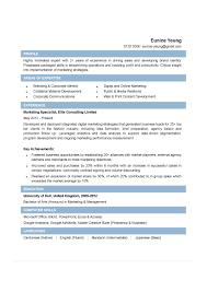 Cv Sample Marketing 7 Handtohand Investment Ltd