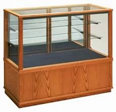 glass display case. Full View Wood Glass Display Cabinet- 5\u0027 Case H