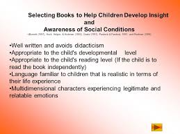 Table of Contents Criteria for selecting books to help kids develop