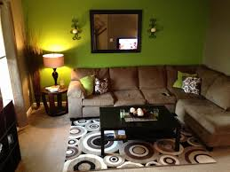 Lime Green And Brown Living Room