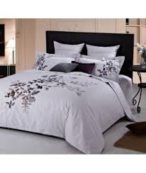 Embroidered Duvet Cover Sets For Incredible Residence Duvet Cover ... & 29 For A 100 Cotton Duvet Cover Set Groupon Intended For Amazing Home Duvet  Cover Sets Remodel ... Adamdwight.com
