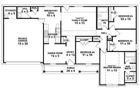 4 Bedroom Floor Plans Designs 4 Bedroom House Floor Plans On Bedroom 2 Bath  Traditional Ranch Style House Plan House Plans Floor Plans 4 Bedroom 3 Bath  2 ...